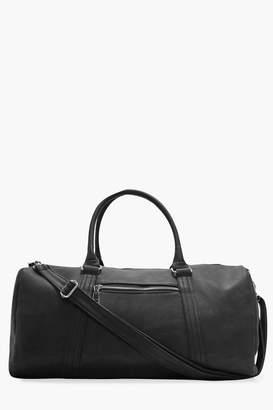 boohoo Black Smart PU Holdall Bag