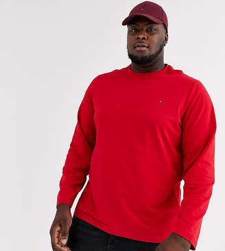 Tommy Hilfiger Big & Tall stretch long sleeve tee in red