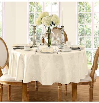 "Elrene Barcelona Damask Antique 60"" x 84"" Oval Tablecloth"