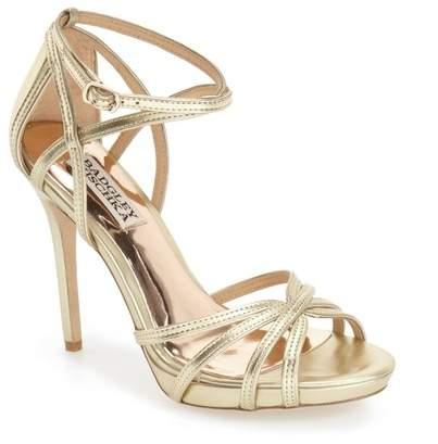 Badgley MischkaBadgley Mischka &Leon II& Metallic Ankle Strap Sandal (Women)