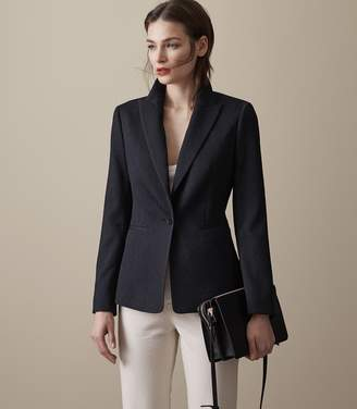 Reiss Rio - Textured Blazer in Night Navy