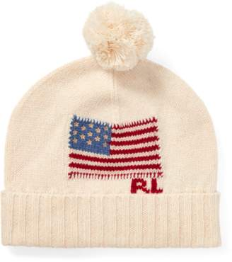 Ralph Lauren Flag Wool Pom-Pom Hat