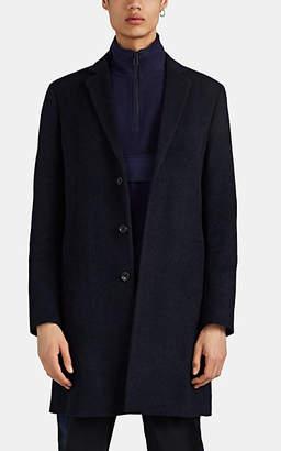 Paul Smith Men's Brushed Wool-Blend Melton Overcoat - Navy