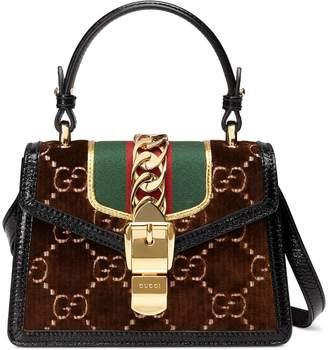 Gucci Sylvie GG velvet mini bag