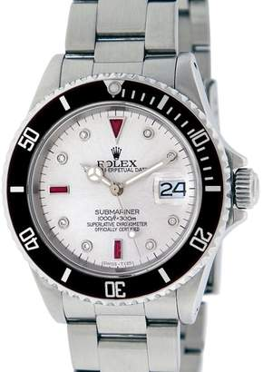 Rolex Submariner 16610 Stainless Steel with Diamond and Ruby 40mm Mens Watch