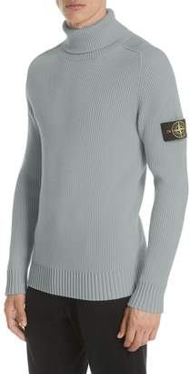 Stone Island Ribbed Wool Turtleneck Sweater