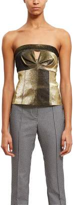 Opening Ceremony Metallic Bustier Top