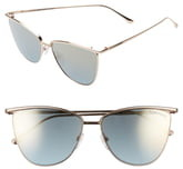 Tom Ford Veronica 58mm Gradient Mirrored Cat Eye Sunglasses