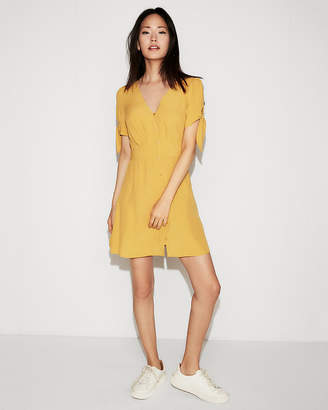 Express Tie Sleeve Shirt Dress