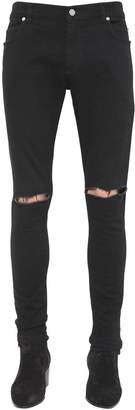 Balmain 14cm Ultra Skinny Cotton Denim Jeans
