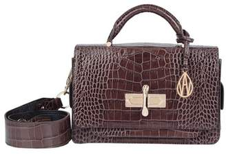 Amanda Wakeley Cocoa Croc Leather Robbie Handbag