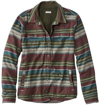 L.L. Bean L.L.Bean Women's Fleece-Lined Flannel Shirt, Snap-Front Stripe