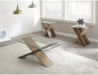 Bronx Ivy Cotaco 2 Piece Coffee Table Set