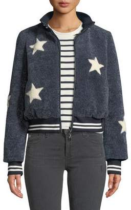 Belle Fare Sheepskin Star Baseball Jacket