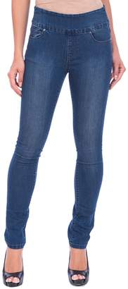 Lola Jeans Rebeccah High-Rise Pull-On Straight Jeans