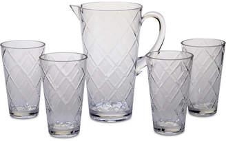 Certified International Clear Diamond Acrylic 5-Pc. Drinkware Set