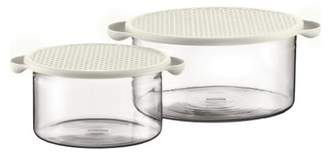 Bodum Hot Pot Bowl, Glass - Off-White, Pack of 2