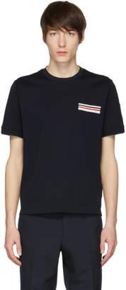 Moncler Gamme Bleu Navy Flag Pocket T-Shirt