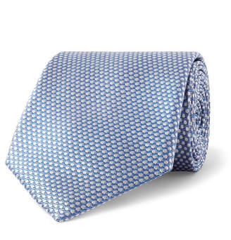 Giorgio Armani 7.5cm Polka-Dot Silk-Jacquard Tie