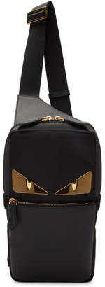 Fendi Black Bag Bugs One-Shoulder Backpack