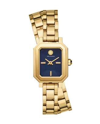 b3fbd37e5 Tory Burch Robinson Two-Hand Goldtone Stainless Steel Double Wrap Watch