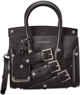 Alexander McQueen Heroine Buckle Leather Shoulder Bag