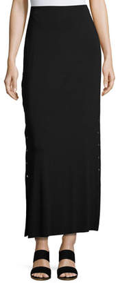 Bailey 44 Cain Splice Side-Snap Maxi Skirt, Black $168 thestylecure.com