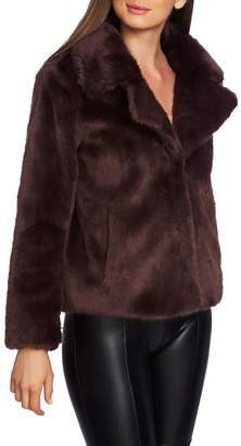 1 STATE 1.STATE Crop Faux Fur Jacket