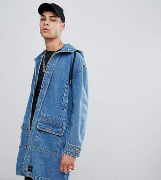 Asos Sixth June denim hooded jacket in blue exclusive to