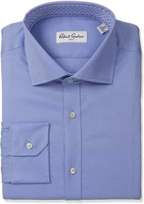 Robert Graham Men's Classic Fit Textured Solid Dress Shirt
