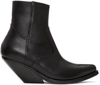 Vetements Black Cowboy Boots $1,490 thestylecure.com