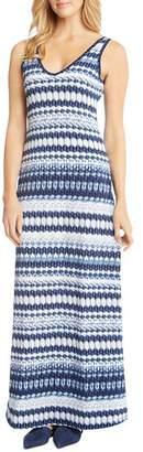 Karen Kane Side-Slit Ikat Maxi Dress