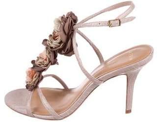 AERIN Snakeskin Embellished Sandals