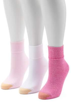 Gold Toe Goldtoe Women's GOLDTOE 3-pk. Ultrasoft Turn-Cuff Crew Socks