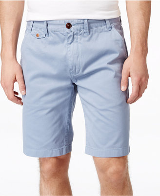 Barbour Men's Neuston Twill Flat-Front Shorts $99 thestylecure.com