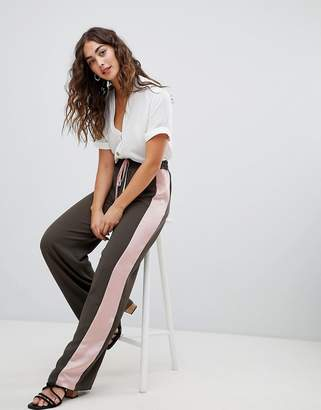 Glamorous smart joggers with satin side stripe