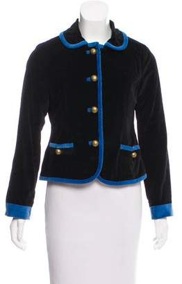 Marc by Marc Jacobs Velvet Rounded Collar Jacket