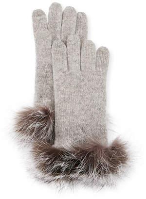 e54aa613c Sofia Cashmere Cashmere Gloves w/ Fur Cuffs