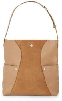Halston Leather Hobo Shoulder Bag