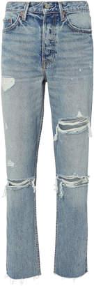 GRLFRND Karolina High-Rise Crop Jeans