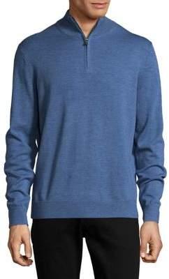 Black & Brown Black Brown Quarter-Zip Merino Wool Sweater