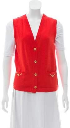 Celine Wool V-Neck Vest