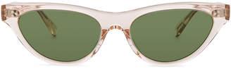 Oliver Peoples Zasia Sunglasses in Light Silk & Green | FWRD