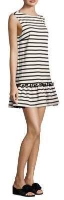 Marc Jacobs Striped Pom-Pom Dress