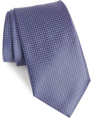 Ermenegildo Zegna Ermengildo Herringbone Silk Tie
