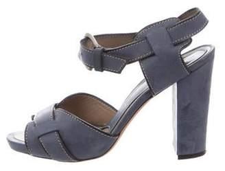 Marni Suede Sandal Heels
