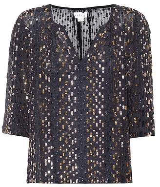 Velvet Prima sequinned top