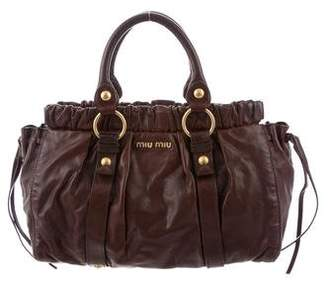 ed814d4ff4d7 Miu Miu Vitello Lux Gathered Bag