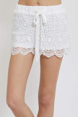 Blu Pepper Crochet Shorts
