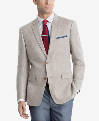Tommy Hilfiger Closeout! Men's Modern-Fit Tan Herringbone Sport Coat